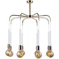 Amplex Mia lampa wisząca 8x60W biała/złota 0436