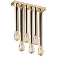 Amplex Lagos lampa podsufitowa 6x60W złota 0630