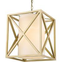 CosmoLight New York lampa wisząca 1x40W złoty/biały P01403WHAU