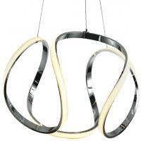 CosmoLight Tokyo lampa wisząca 1x44W biały/chrom P01663CH