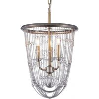 CosmoLight Madrid lampa wisząca 3x60W szampan/kryształ P03172CP