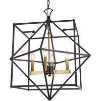 CosmoLight Nashville lampa wisząca 4x40W czarny/złoty P04247BKAU
