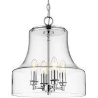 CosmoLight Prague lampa wisząca 4x60W chrom P04458CH