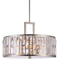 CosmoLight Moscow lampa wisząca 5x60W szampan/kryształ P05134CP