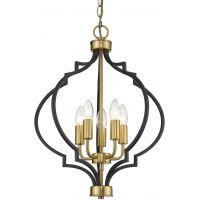 CosmoLight Nashville lampa wisząca 4x40W czarny/złoty P05179BKAU