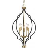 CosmoLight Nashville lampa wisząca 4x40W czarny/złoty P05186BKAU