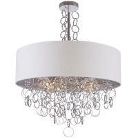 CosmoLight Cairo lampa wisząca 6x40W srebrny/biały P06496WHAG