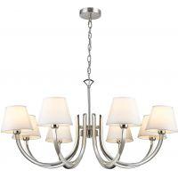 CosmoLight Atlanta lampa wisząca 8x40W nikiel/biały P08810NI