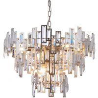 CosmoLight St Petersburg lampa wisząca 9x40W szampan/kryształ P09158CP