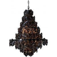 CosmoLight Brisbane lampa wisząca 9x40W czarny/nikiel P09861BKNI