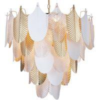 CosmoLight Palermo lampa wisząca 21x40W biały mat/złoty/przezroczysty P21070AU