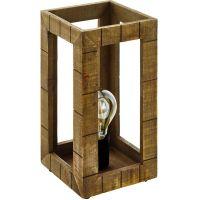 Eglo Takhira lampa stołowa 1x60W czarny/brązowy 43016