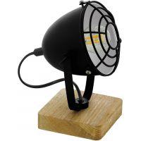 Eglo Gatebeck lampa stołowa 1x40W naturalne drewno/czarny 43138