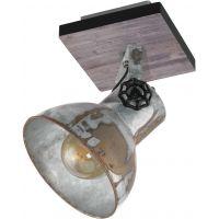Eglo Barnstaple lampa podsufitowa 1x40W brązowy-patynowany/czarny/zużyty cynkowany 49648