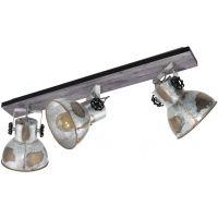 Eglo Barnstaple lampa podsufitowa 3x40W brązowy-patynowany/czarny/zużyty cynkowany 49652