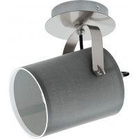 Eglo Villabate lampa podsufitowa 1x10W nikiel satynowy/szary 98138