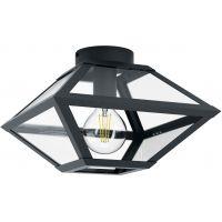 Eglo Casefabre lampa podsufitowa 1x60W czarny/przezroczysty 98355
