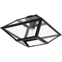 Eglo Casefabre lampa podsufitowa 1x60W czarny/przezroczysty 98356