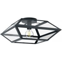 Eglo Casefabre lampa podsufitowa 1x60W czarny/przezroczysty 98357
