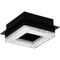 Eglo Fradelo lampa podsufitowa 1x4W czarny/przezroczysty 99324