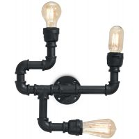 Ideal Lux Plumber lampa podsufitowa 3x42W czarna 142517
