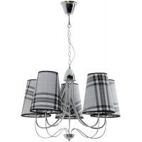 Lampex Elton lampa wisząca 5x40W popiel/chrom 863/5