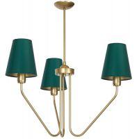 Milagro Victoria lampa wisząca 3x60W mosiądz/zieleń butelkowa MLP4907