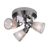 Markslöjd Lada lampa podsufitowa 3x40W chrom/przezroczysty 104781