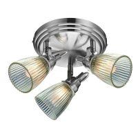 Markslöjd Lada lampa podsufitowa 3x40W stal/przezroczysty 104865
