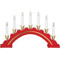 Markslöjd Celine lampa stołowa - świecznik świąteczny 7x3W czerwony/biały 700447