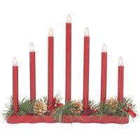 Markslöjd Hol lampa stołowa - świecznik świąteczny 7x0.06W czerwony/biały 704018