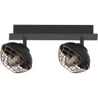 Milagro Logan lampa podsufitowa 2x40W czarno/miedziana ML4610
