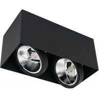 Milagro Plaza lampa podsufitowa 2x12W czarna ML4746