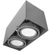 Milagro lampa podsufitowa 2x7W szara ML843