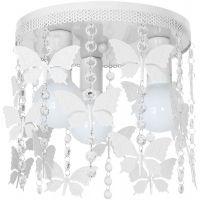 Milagro Angelica lampa podsufitowa 3x60W biały/kryształ MLP1164