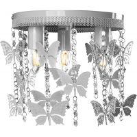 Milagro Angelica lampa podsufitowa 3x60W szary/kryształ MLP1167