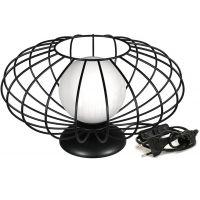Milagro Kronos lampa stołowa 1x40W czarna MLP4430