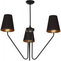 Milagro Victoria Black lampa wisząca 3x60W czarno/złota MLP4912