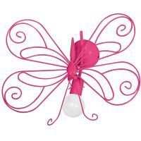 Milagro Motyl kinkiet 1x60W różowy MLP5328
