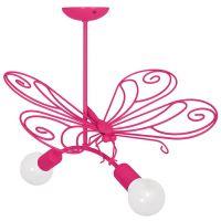 Milagro Motyl lampa wisząca 2x60W różowa MLP5329