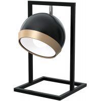 Milagro Oval Black lampa stołowa 1x60W czarna MLP5474