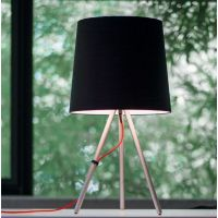 Martinelli Luce Eva lampa stołowa 1x12W czarna/aluminium 798/NE