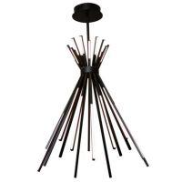 MaxLight Tipi lampa wisząca 1x88W czarna P0353