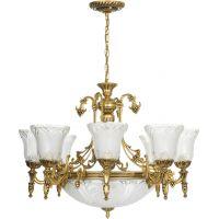 Nowodvorski Lighting Pireus XI lampa wisząca 11x60W złoty/przezroczysty 3380