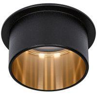 Paulmann Gil lampa podsufitowa 1x6W LED czarny mat/złoty 93378