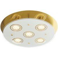 Rabalux Naomi lampa podsufitowa 5x5W antyczny mosiądz/biały 2256