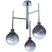 Rabalux Semira lampa wisząca 3x4W chrom/szkło dymne 5003