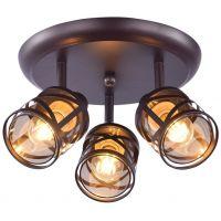 Rabalux Oberon lampa podsufitowa 3x40W brązowy/bursztynowy 5337
