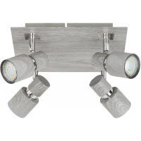 Rabalux Merkur lampa podsufitowa 4x50W chrom/szary dąb 6128
