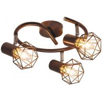 Rabalux Odin lampa podsufitowa 3x40W brązowy metalik 6884
